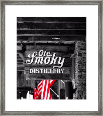 Old Smoky Distillery An American Pastime Framed Print by Dan Sproul