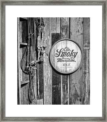 Ole Smoky Moonshine Framed Print by Dan Sproul