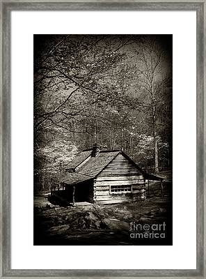 Old Smoky Mtn Cabin Framed Print