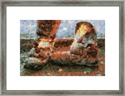 Old Snow Boots Framed Print by Ayse Deniz