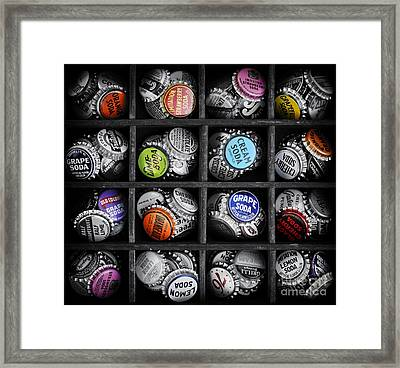 Old Soda Bottle Tops Framed Print by Tim Gainey