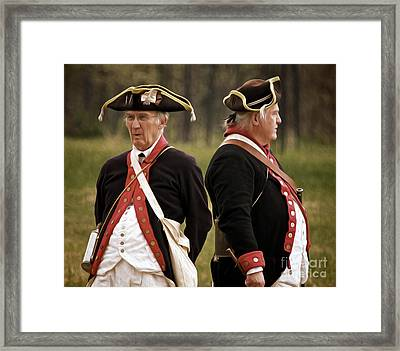 Old Soldiers Framed Print by Mark Miller