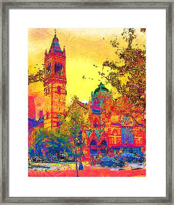 Old South Church Framed Print by Anthony Caruso