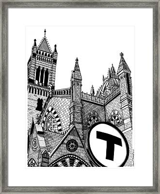 Old South Church Boston Framed Print by Conor Plunkett