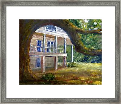 Old Southern Louisiana Mansion Plantation Framed Print
