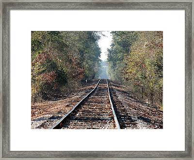 Old Southern Tracks Framed Print