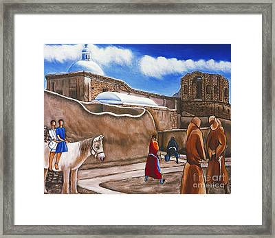 Old Spanish Church Framed Print by William Cain