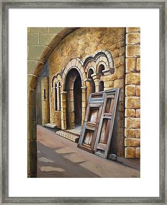 Old Spanish Monastery Framed Print by Rich Kuhn