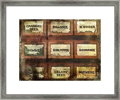 Old Spice Framed Print by Colleen Kammerer