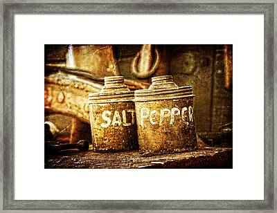 Old Spices Framed Print