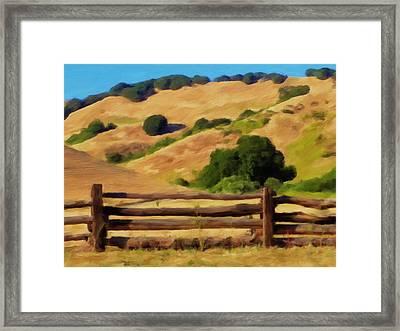 Old Split Rail Fence Framed Print by Michael Pickett