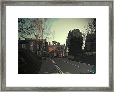Old Spondon, A View Down Church Street Towards Church Hill Framed Print