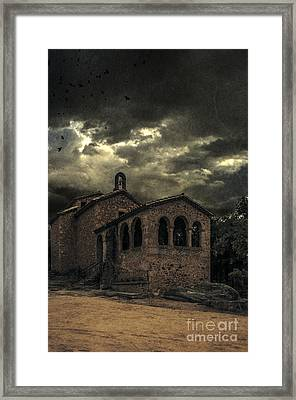Old Spooky Chapel Framed Print