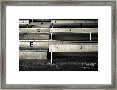 Old Stadium Bleachers Framed Print by Diane Diederich