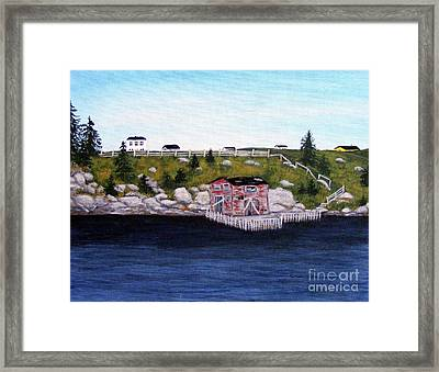 Old Stage And Storeloft Framed Print by Barbara Griffin