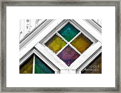 Old Stained Glass Windows Framed Print