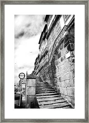 Old Stairs In Porto Framed Print by John Rizzuto