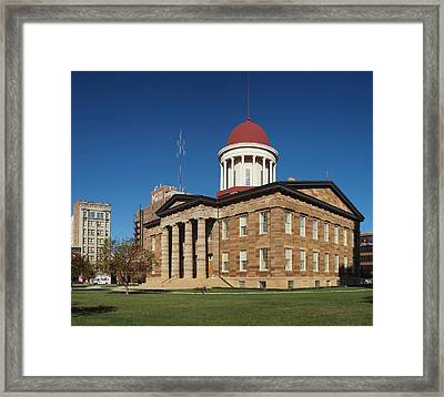 Old State Capital Springfield Illinois Framed Print
