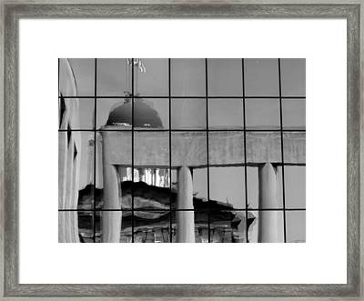 Old State Capitol Reflection Framed Print by Sue Houston