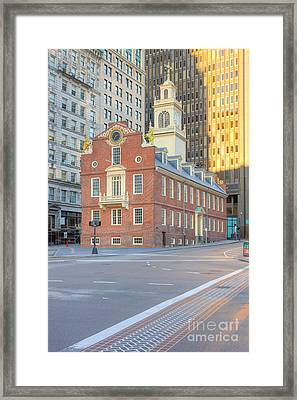 Old State House V Framed Print by Clarence Holmes