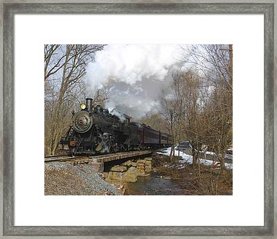 Old Steam Engine In Color Framed Print by Joseph C Hinson Photography