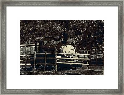 Old Steam Locomotive  Framed Print by Maria Angelica Maira