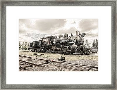 Framed Print featuring the photograph Old Steam Locomotive No. 97 - Made In America by Gary Heller