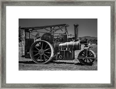 Old Steam Roller Framed Print