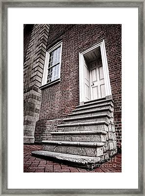 Old Steps And Door Framed Print
