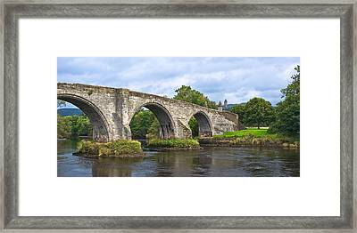 Old Stirling Bridge - Scotland Framed Print
