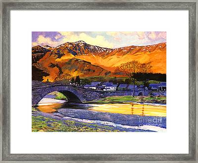 Old Stone Bridge Framed Print by David Lloyd Glover