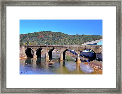 Old Stone Bridge - Johnstown Pa Framed Print