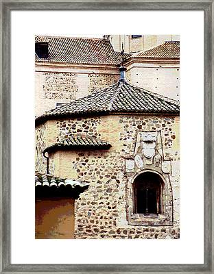 Framed Print featuring the photograph Old Stone Building by Mary Bedy