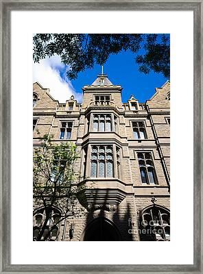 Old Stone Building Of Rmit University - Melbourne - Australia Framed Print by David Hill