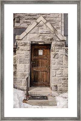 Old Stone Church Door Framed Print by Edward Fielding