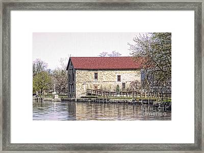 Old Stone House On The Canal Framed Print by Jim Lepard