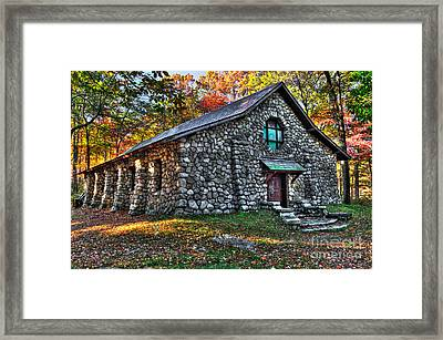 Old Stone Lodge Framed Print by Anthony Sacco