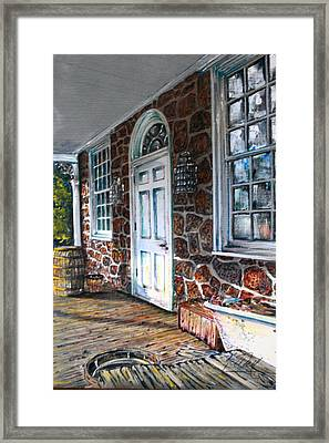 Old Stone Store Front Framed Print by Martin Way