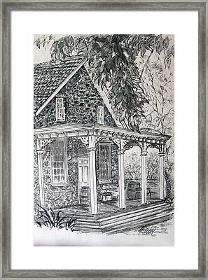 Old Stone Store Framed Print by Martin Way
