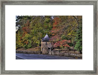 Framed Print featuring the photograph Old Stone Tower At The Edge Of The Forest by Jonny D