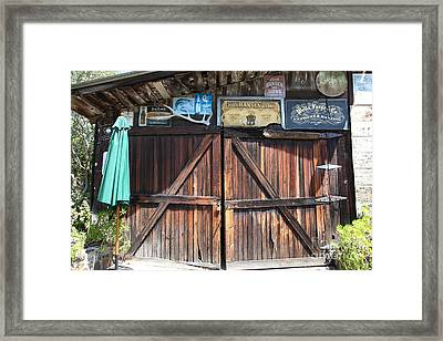 Old Storage Shed At The Swiss Hotel Sonoma California 5d24457 Framed Print by Wingsdomain Art and Photography