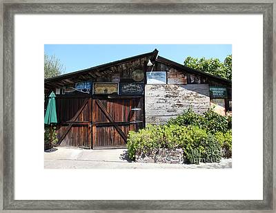 Old Storage Shed At The Swiss Hotel Sonoma California 5d24458 Framed Print by Wingsdomain Art and Photography