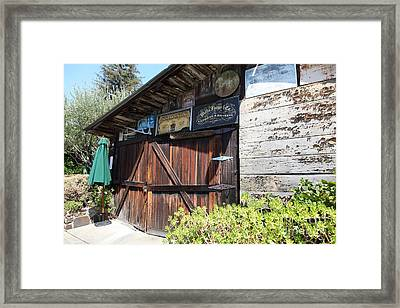 Old Storage Shed At The Swiss Hotel Sonoma California 5d24459 Framed Print by Wingsdomain Art and Photography