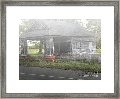 Framed Print featuring the digital art Old Store by Melissa Messick