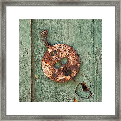 Old Stove Valve Framed Print by Art Block Collections