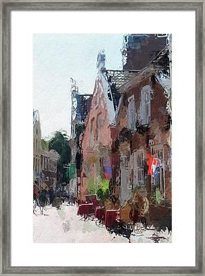 Old Street Cafe Framed Print by Steve K