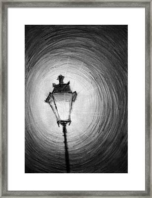 Old Street Lamp Framed Print