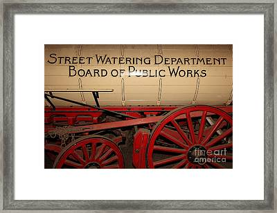 Old Street Watering Department Wagon 5d24532 Framed Print