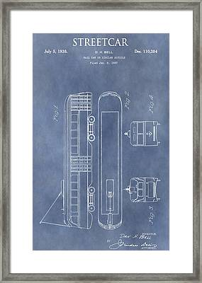 Old Streetcar Patent Framed Print by Dan Sproul