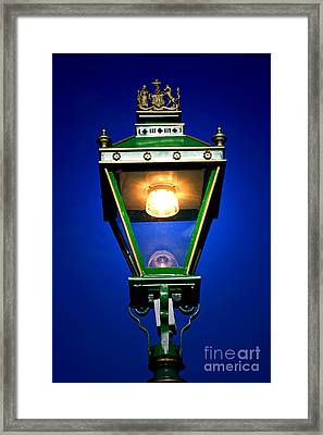 Framed Print featuring the photograph Old Streetlamp by Craig B